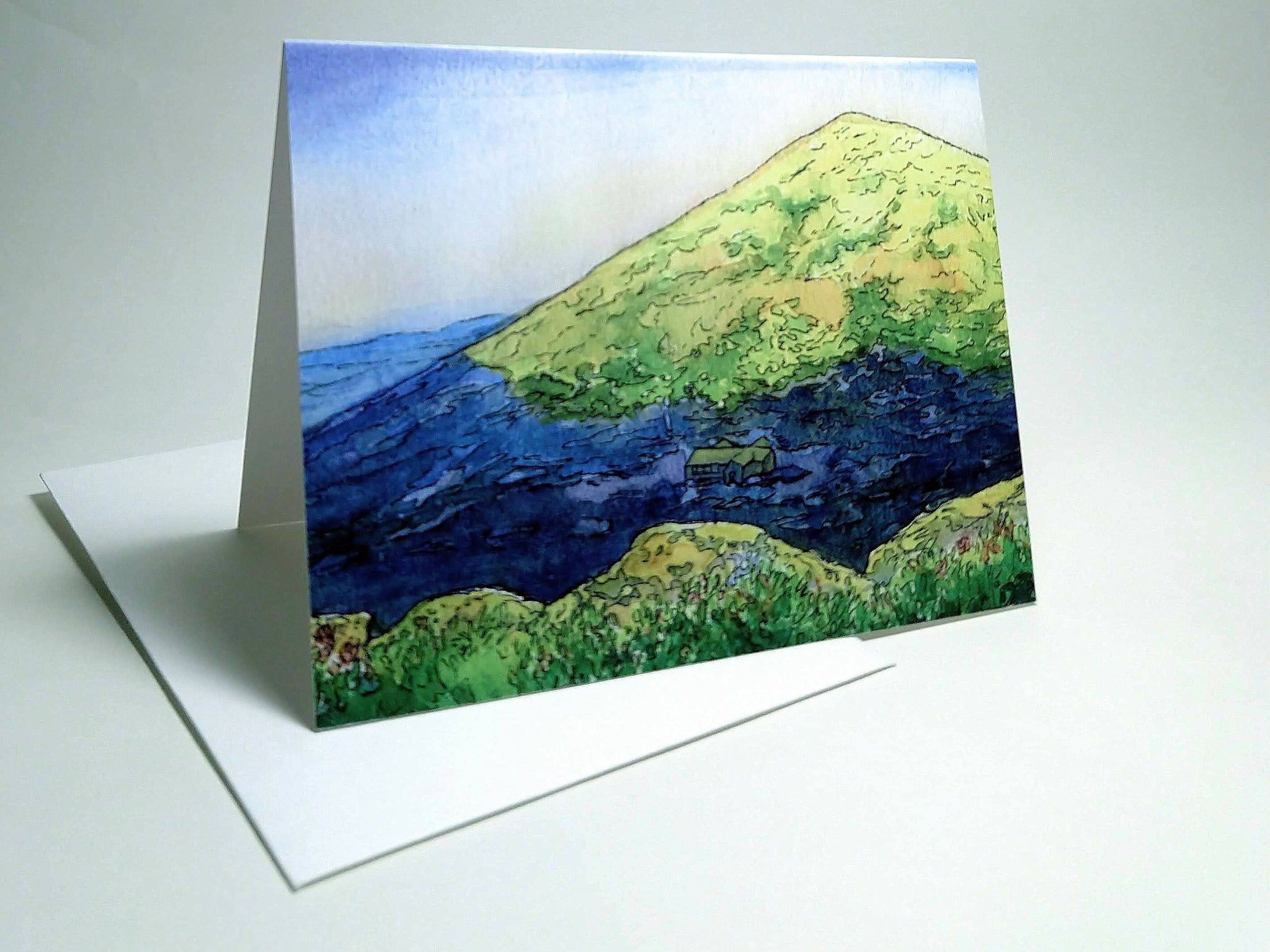 Madison Spring Hut, small blank greeting card