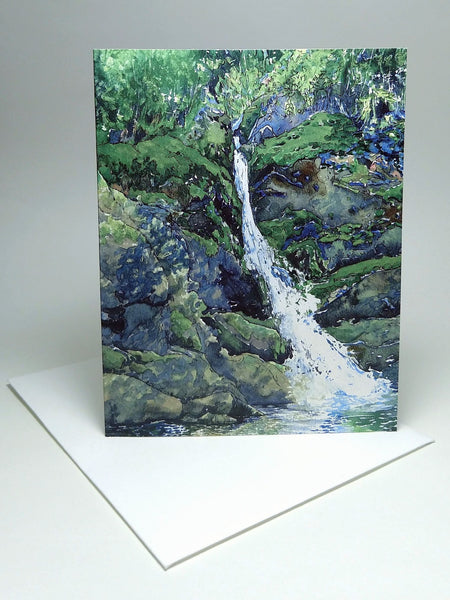 The Brooklet, small blank greeting card