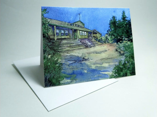 Zealand Falls Hut, small blank greeting card