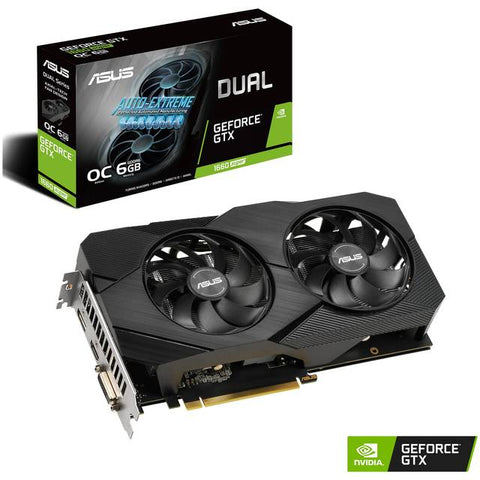 ASUS NVIDIA GeForce GTX 1660 SUPER 6GB DUAL FAN EVO GDDR6 DVI/HDMI/DisplayPort/DVI-D PCI-Express Video Card