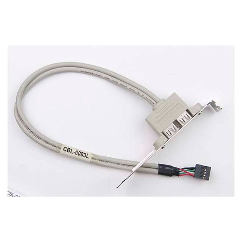 Supermicro CBL-0083L 0.4m 2-Port USB 2.0 Cable w/ Bracket