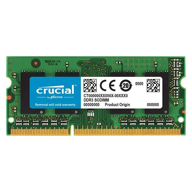 Crucial DDR3-1600 SODIMM 2GB CL11 Notebook Memory