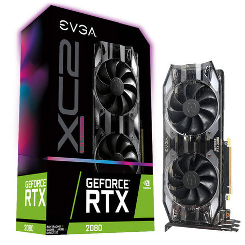 EVGA NVIDIA GeForce RTX 2080 XC2 ULTRA Gaming 8GB GDDR6 HDMI/3DisplayPort/USB Type-C PCI-Express Video Card w/ iCX2 & RGB LED