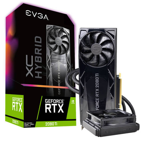 EVGA NVIDIA GeForce RTX 2080 Ti XC HYBRID GAMING 11GB GDDR6 HDMI/3DisplayPort/USB Type-C PCI-Express Video Card w/ RGB LED