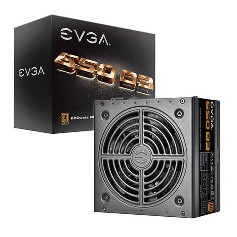 EVGA 650 B3 220-B3-0650-V1 650W 80 PLUS Bronze Power Supply w/ Fully Modular & EVGA Eco Mode