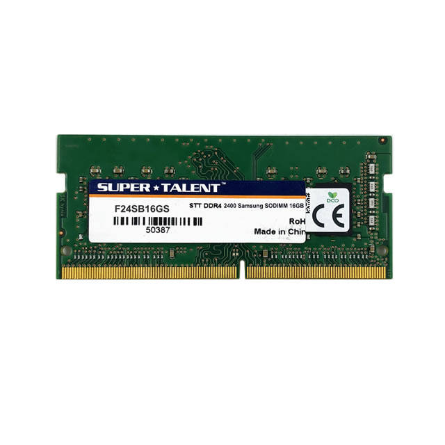 Super Talent DDR4-2400 SODIMM 16GB Samsung Chip Notebook Memory