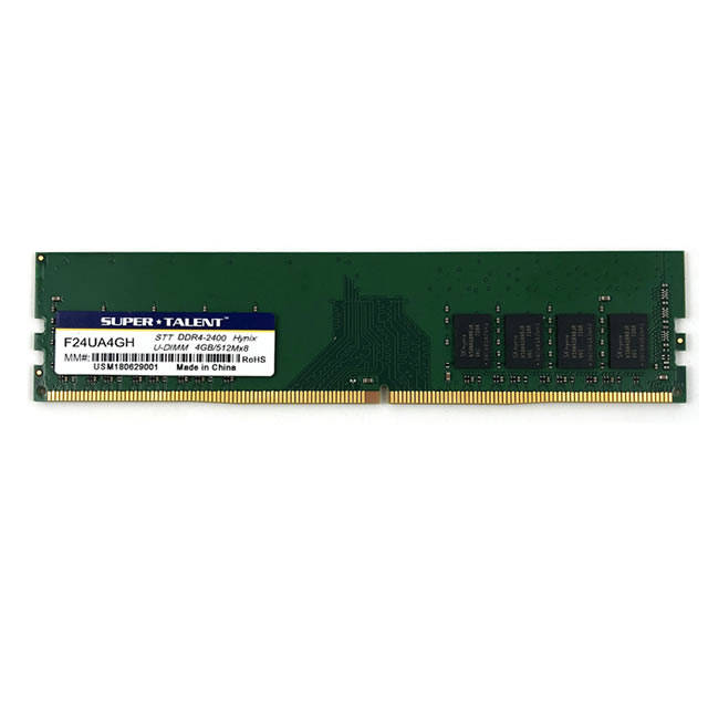 Super Talent DDR4-2400 4GB/512Mx8 Hynix Chip Memory