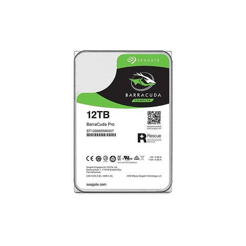Seagate BarraCuda Pro ST12000DM0007 12TB 7200RPM SATA 6.0 GB/s 256MB Hard Drive