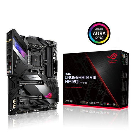 Asus ROG CROSSHAIR VIII HERO (WI-FI) Socket AM4/ AMD X570/ DDR4/ 3-Way CrossFireX & 2-Way SLI/ SATA3&USB3.2/ M.2/ WiFi+Bluetooth/ A&GbE/ ATX Motherboard