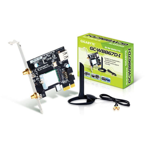 GIGABYTE GC-WB867D-I REV 4.2 Exclusive Bluetooth 4.2/WiFi Expansion Card