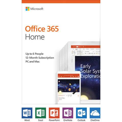Microsoft Office 365 Home / 12-month subscription, up to 6 people, PC/Mac Key Card