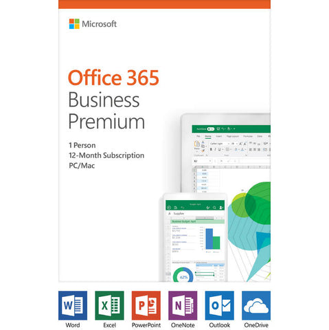 Microsoft Office 365 Business Premium / 12-month subscription, 1 person, PC/Mac Key Card