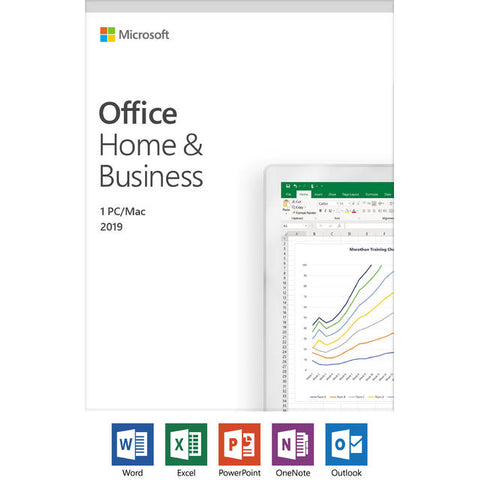 Microsoft Office Home and Business 2019 / 1 device, Windows 10 PC/Mac Key Card