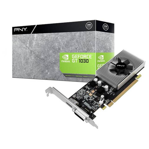 PNY NVIDIA GeForce GT 1030 2GB GDDR5 DVI/HDMI Low Profile PCI-Express Video Card