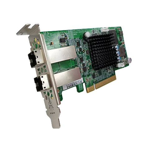 QNAP SAS-12G2E Dual-Port SAS 12Gbps Storage Expansion Card for Rackmount Models, w/ Low-profile Bracket