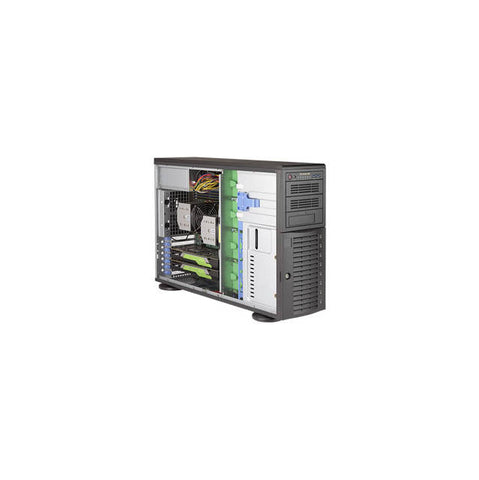 Supermicro SuperWorkstation SYS-7049A-T Dual LGA3647 1200W 4U Rackmount/Tower Workstation Barebone System (Black)