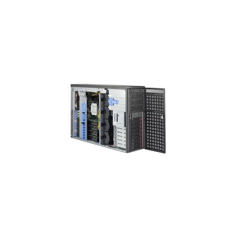 Supermicro GPU SuperWorkstation SYS-7049GP-TRT Dual LGA3647 2200W 4U Rackmountable/Tower Workstation Barebone System (Dark Gray)