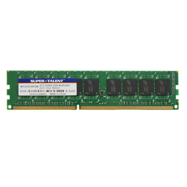 Super Talent DDR3-1333 8GB ECC Micron Chip Server Memory