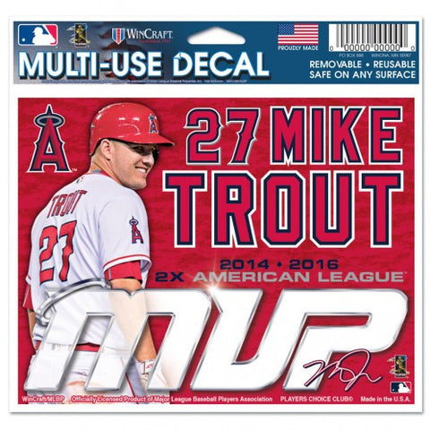 Los Angeles Angels Mike Trout 2x MVP Decal