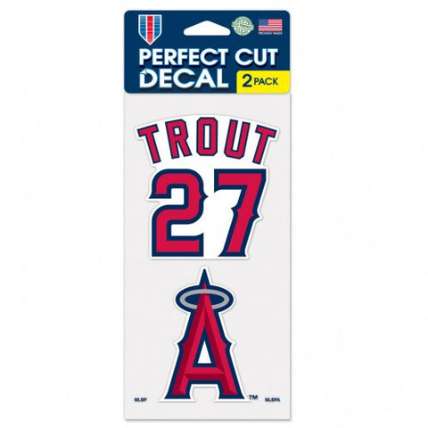 Los Angeles Angels Mike Trout 2-pack Vinyl Decals
