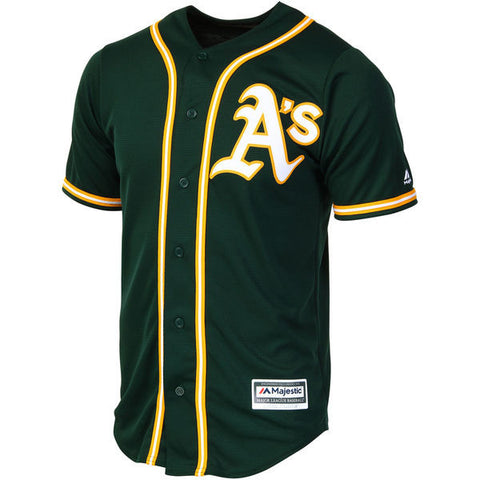 Oakland Athletics Majestic Athletic Cool Base Green Jersey