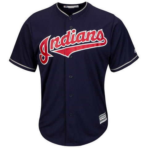 Cleveland Indians Majestic Athletic Cool Base Alternate Blue Jersey