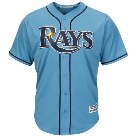 Tampa Bay Rays Majestic Athletic Cool Base Light Blue Jersey