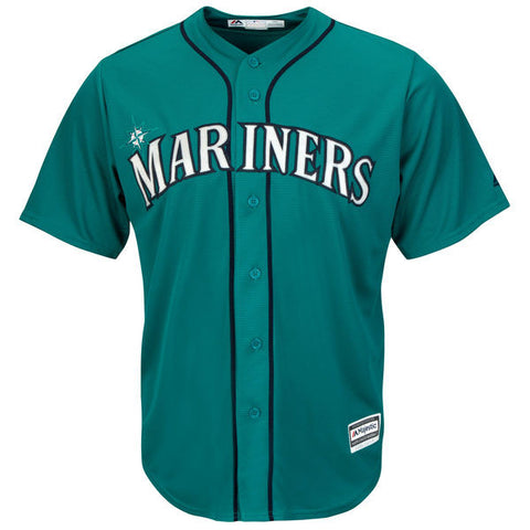 Seattle Mariners Majestic Athletic Cool Base Teal Jersey