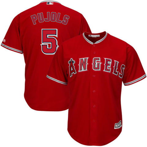 Los Angeles Angels Albert Pujols #5 Majestic Athletic Cool Base Red Jersey