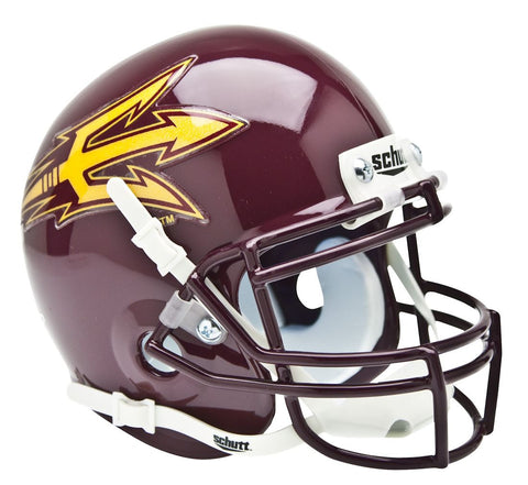 Arizona State Sun Devils Schutt Mini Helmet - Maroon Alternate Helmet #3