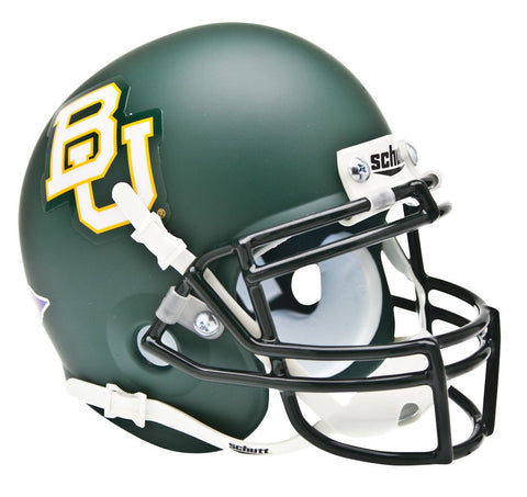 Baylor Bears Schutt Authentic XP Full Size Helmet - Matte Dark Green Alternate Helmet 2