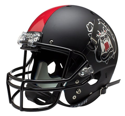 Fresno State Bulldogs Schutt XP Full Size Replica Helmet - Black Alternative 3