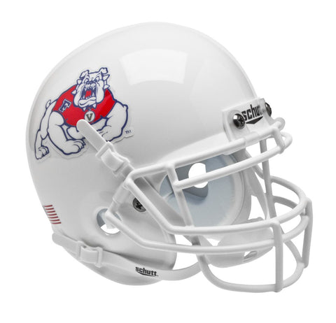 Fresno State Bulldogs Schutt Mini Helmet - Black Alternate Helmet #2
