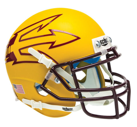 Arizona State Sun Devils Schutt Mini Helmet - Yellow Alternate