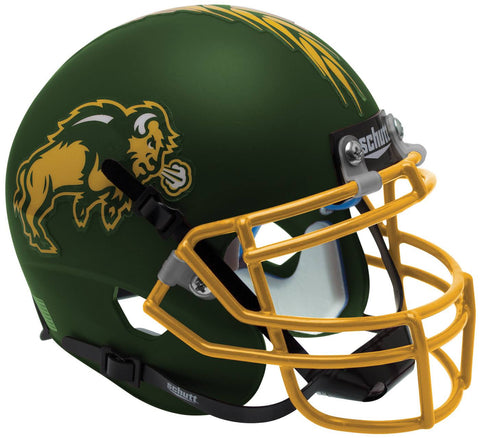 North Dakota State Bison Schutt XP Full Size Replica Helmet Green Alternate 1