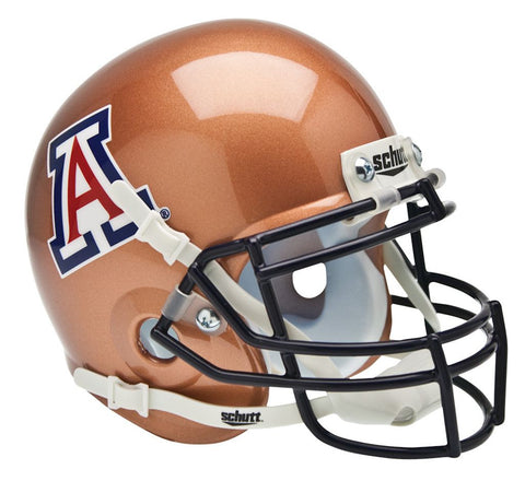 Arizona Wildcats Schutt Mini Helmet - Alternate Helmet #2, Copper