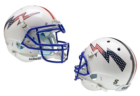 Air Force Falcons Schutt Authentic XP Full Size Helmet - White Alternate Helmet 3