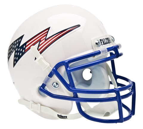 Air Force Falcons Schutt Full Size Replica Helmet - White Alternate Helmet #2