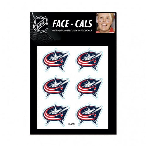 Columbus Blue Jackets Face Cals Tattoos