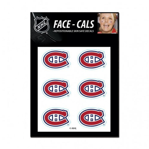 Montreal Canadiens Face Cals Tattoos
