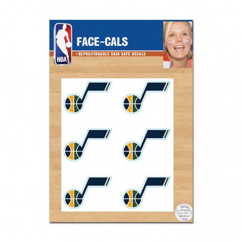 Utah Jazz Face Cals Tattoos
