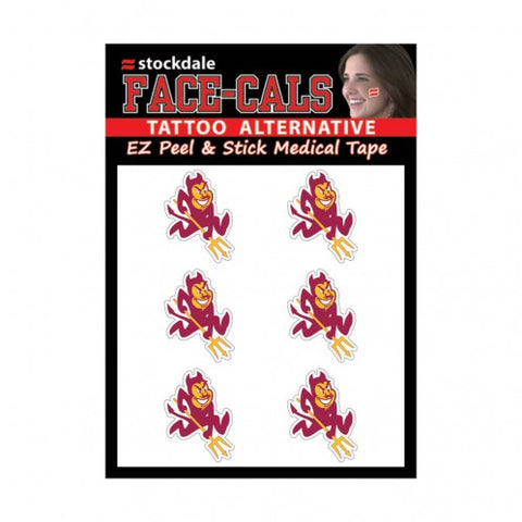 Arizona State Sun Devils Face Cals Tattoos