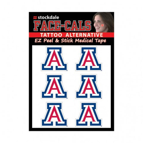 Arizona Wildcats Face Cals Tattoos