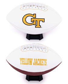 Georgia Tech Yellow Jackets Embroidered Signature Series Full Size Football