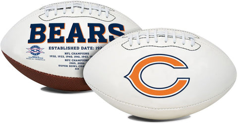 Chicago Bears Football Full Size Embroidered Signature Series