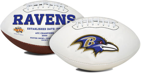 Baltimore Ravens Embroidered Signature Series Full Size Football