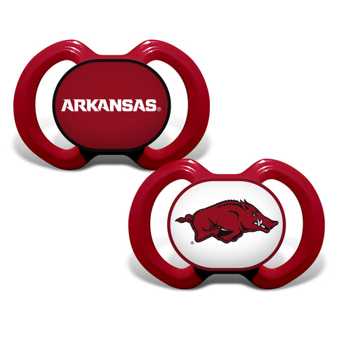 Arkansas Razorbacks Pacifier 2 Pack