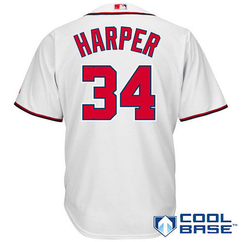 Washington Nationals Bryce Harper #34 Majestic Athletic Cool Base Home Jersey