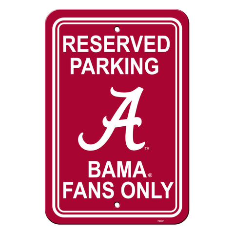 Alabama Crimson Tide Sign Reserved Parking Sign 12x18""