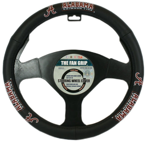 Alabama Crimson Tide Steering Wheel Cover - Leather